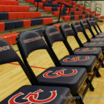 Telescopic Bleachers with Team Seating
