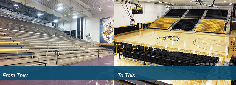 Timken Gym Before & After