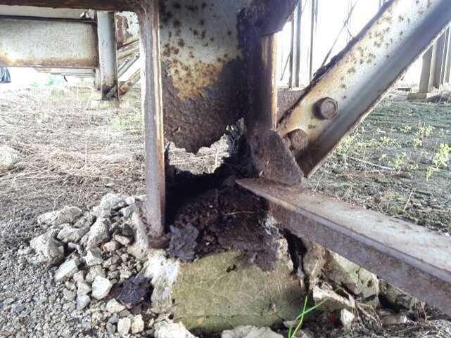 Outdoor Bleachers Rust